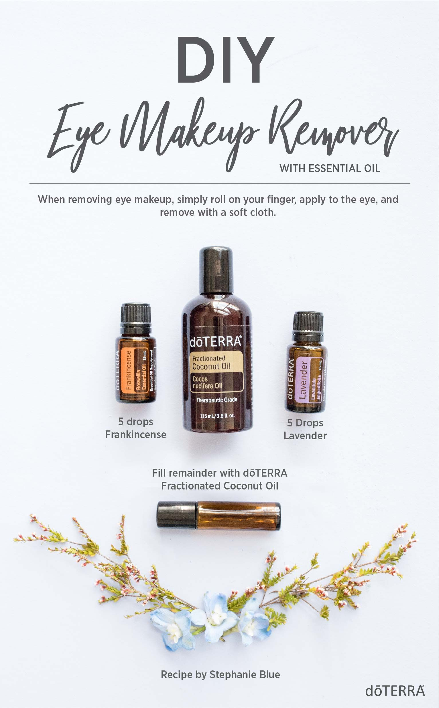 DIY Eye Makeup Remover with Essential Oils Stephanie