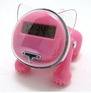Amazon Com Ibright Llc Talking Kitten Cat Shape Talking Alarm Clock Pink Electronics Talking Alarm Clock Kids Alarm Clock Pink Clocks