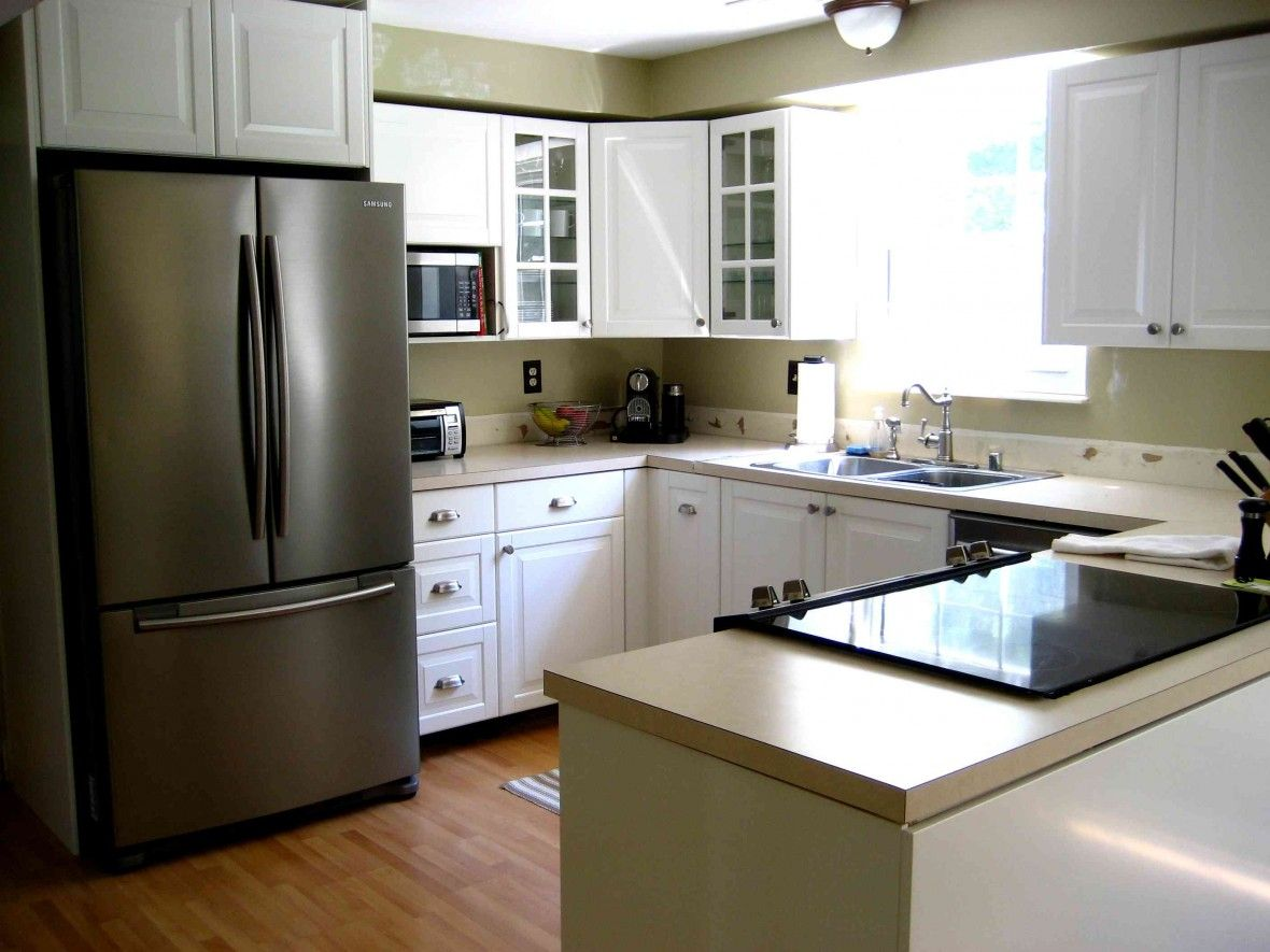 Floor Kitchen Decor Simple Ikea Kitchen Design With Pendant Lamps Also Wood Laminate Flooring With