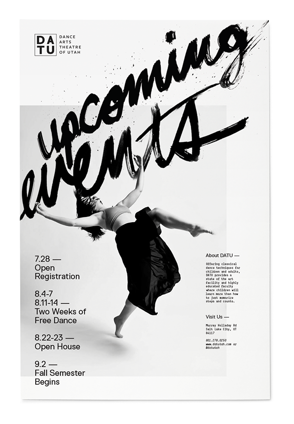 Upcoming events poster for Dance Arts Theatre Utah. | Poster ...