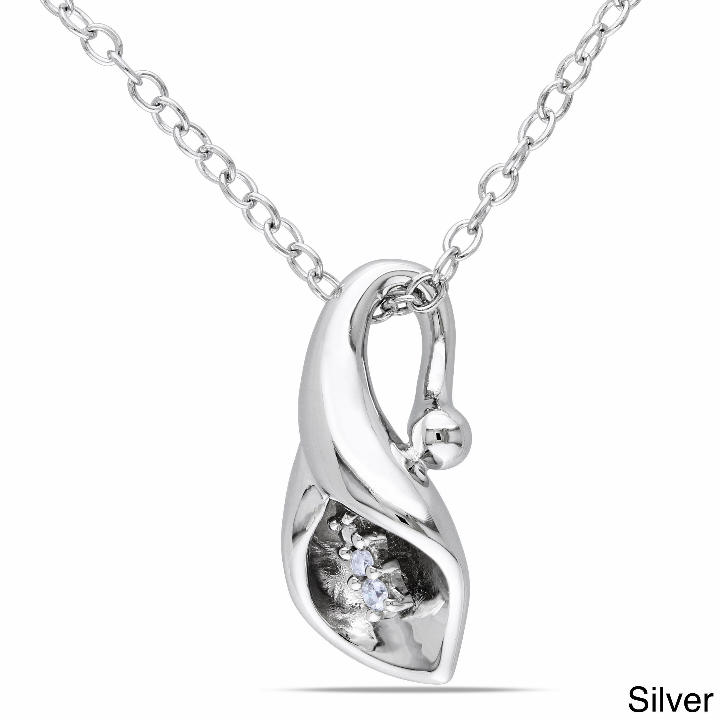 This attractive diamond accent necklace will complement any ensemble
