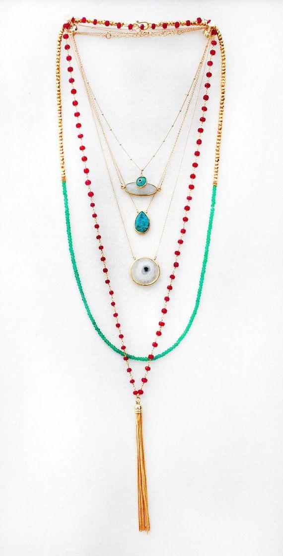 White Solar Quartz Bezel Necklace by keijewelry on Etsy  761d5fbdb46