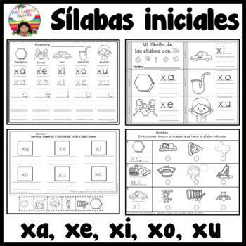 Trabajos Para La Letra X Y Sus Sílabas Xa Xe Xi Xo Xu En Posición Inicial Medial O Final 40 Paginas De Trab Teaching Tips Phonological Awareness Dual Language