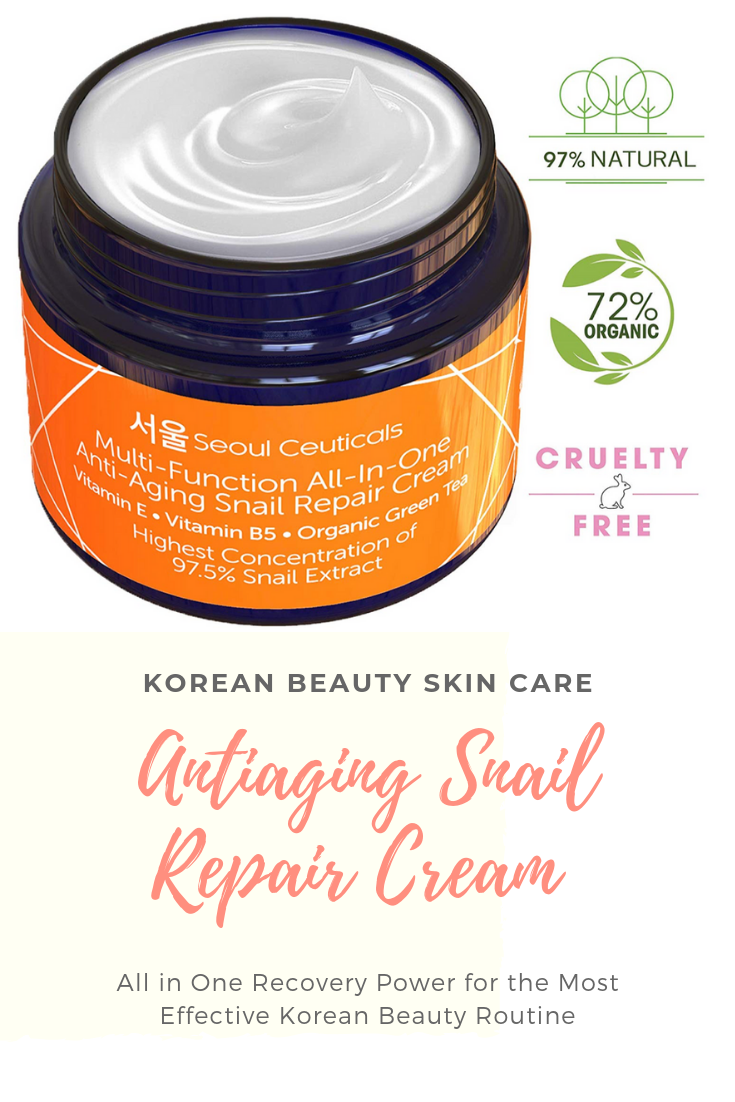 Anti Aging Snail Repair Cream Korean Skin Care Snail Repair Cream L Korean Moisturizer Night Cream 97 Korean Skin Care Secrets Korean Beauty Routine Skin Care