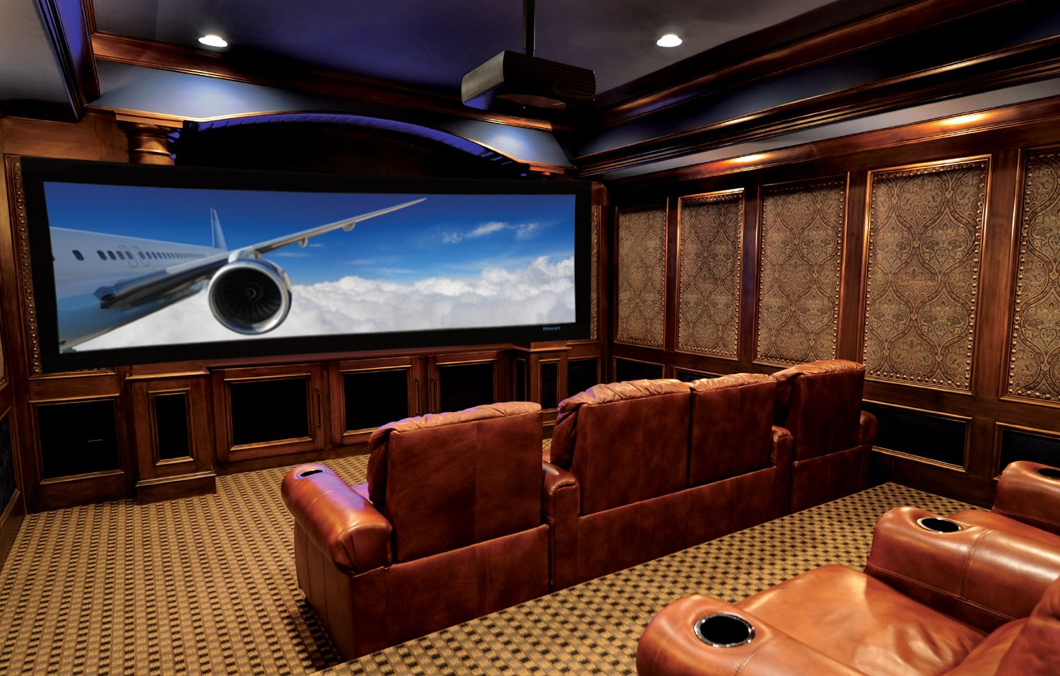 Awesome Basement Home Theater Cinema Room Ideas Theatre - Awesome media room designs