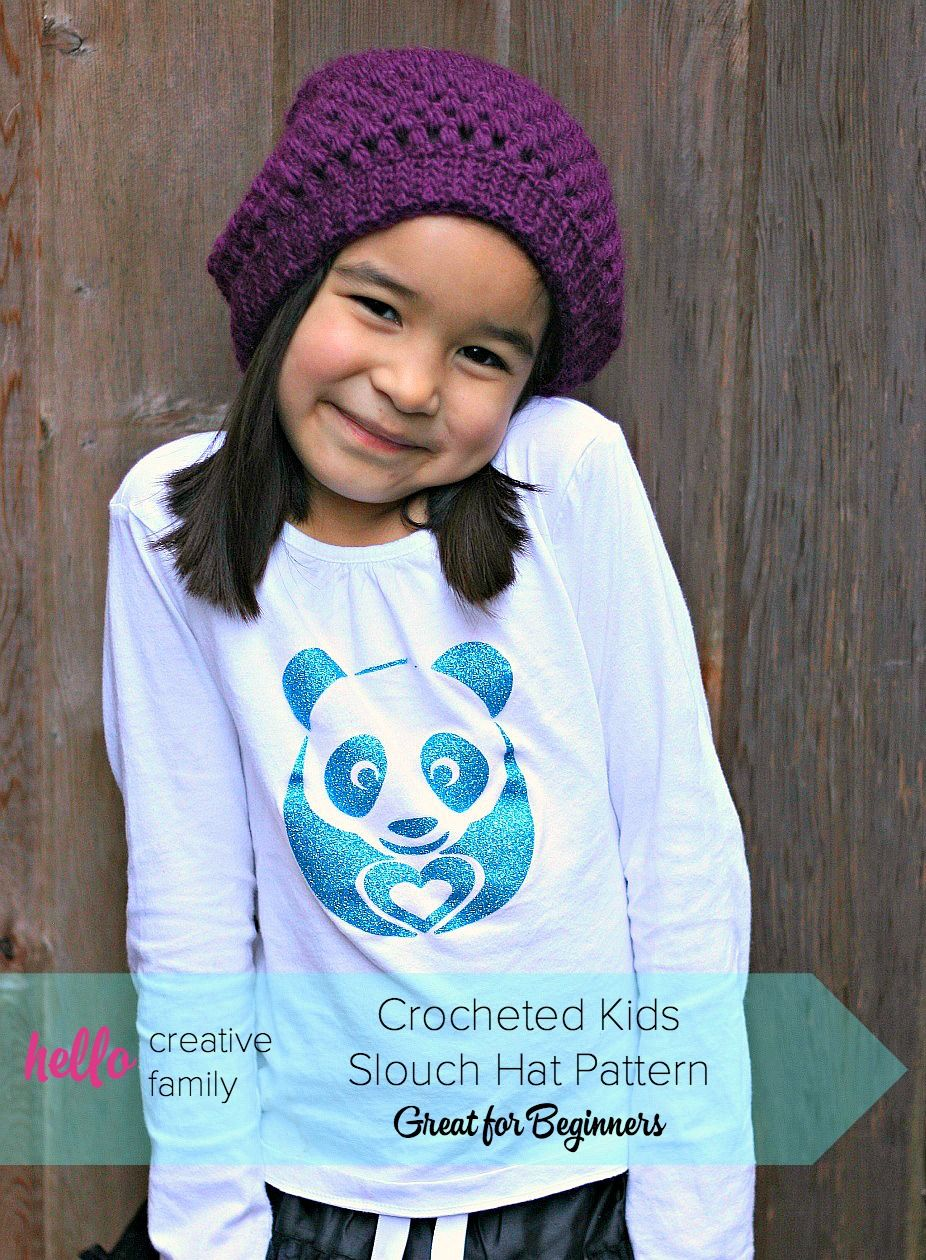 Sew creative crocheted kids slouch hat pattern great for sew creative crocheted kids slouch hat pattern great for beginners bankloansurffo Choice Image