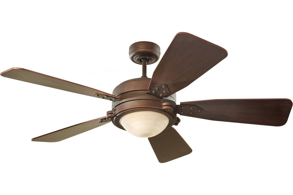 View the monte carlo vintage industrial five blade 52 ceiling fan monte carlo 5vir52rbd roman bronze five blade 52 ceiling fan blades light kit and wall remote included lightingdirect aloadofball Choice Image