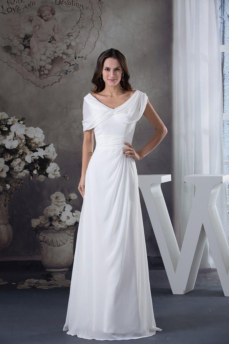 Shop best price aline vneck floorlength chiffon wedding