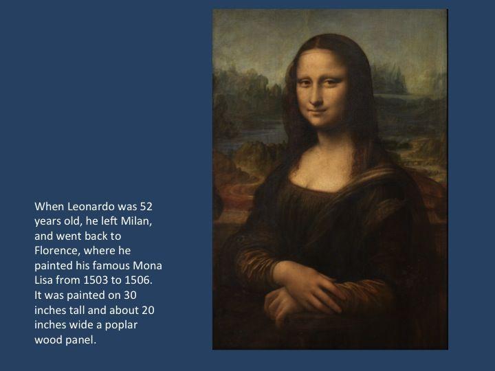 Leonardo da Vinci Biography for Kids: Mona Lisa | Art History for ...