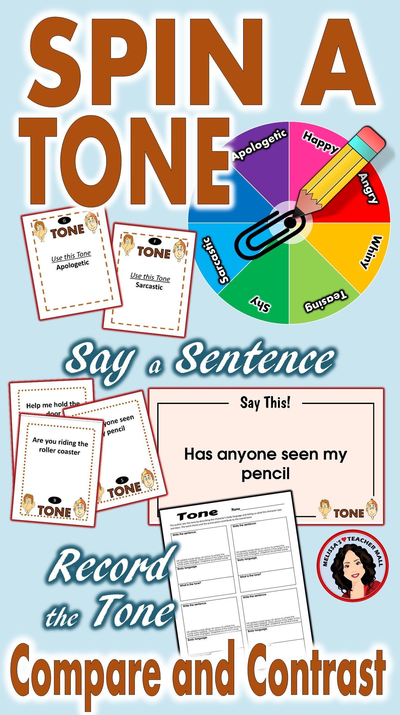 Tone Whole Class Activity Reading Sentences With Different