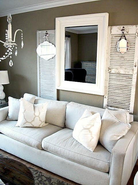 Shutters Decor Living Room Farmhouse Style