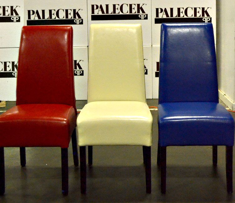 Red White Blue Hudson Leather Dining Chairs Dining Chairs