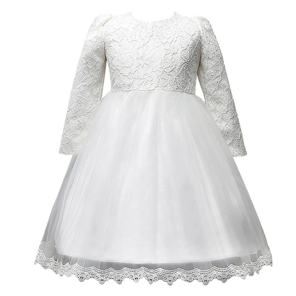 Fantastcostumes Girls Lace Vintage Long Sleeve Wedding Princess Dress White 5t Please Hang Dry Do Not B Princess Wedding Dresses Dresses Long Sleeve Wedding [ 1024 x 1024 Pixel ]