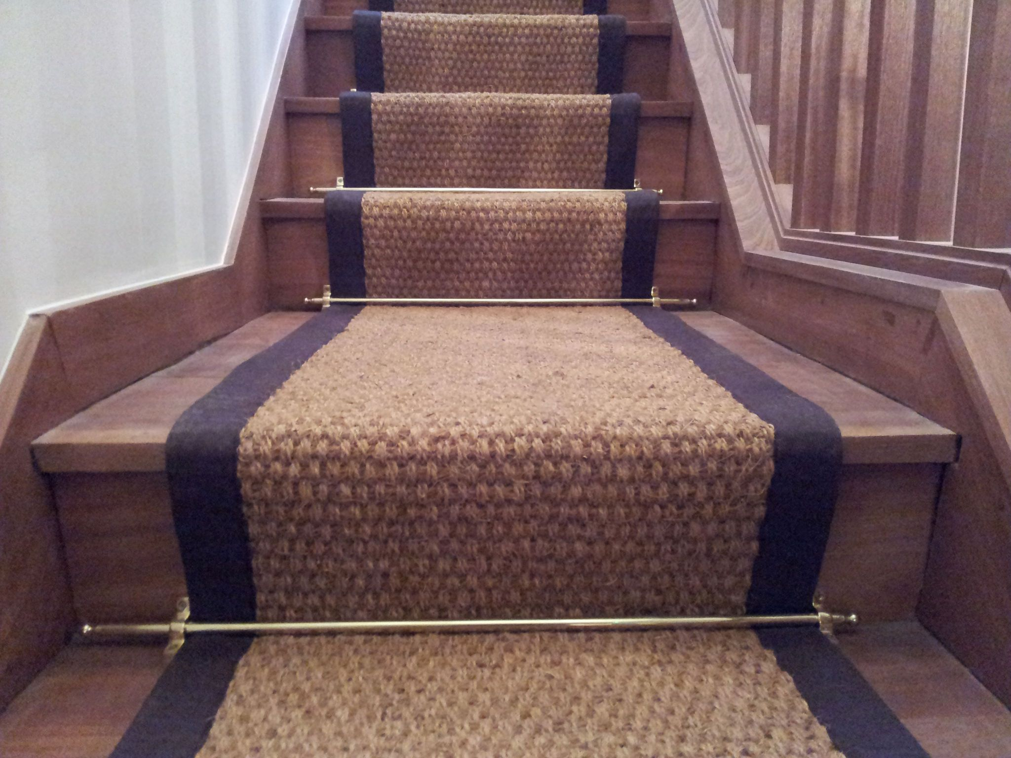 This Is A Coir Natural Stairrunner Available From Two Different   Cost To Re Carpet Stairs   Wood Flooring   Square Foot   Laminate Flooring   Hardwood Stairs   Rug