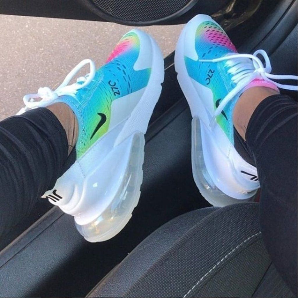 8e5c5d33a138a Custom Air 270 Rainbow Women Nike Shoes, Nike Tennis Shoes, Adidas Shoes,  Sports