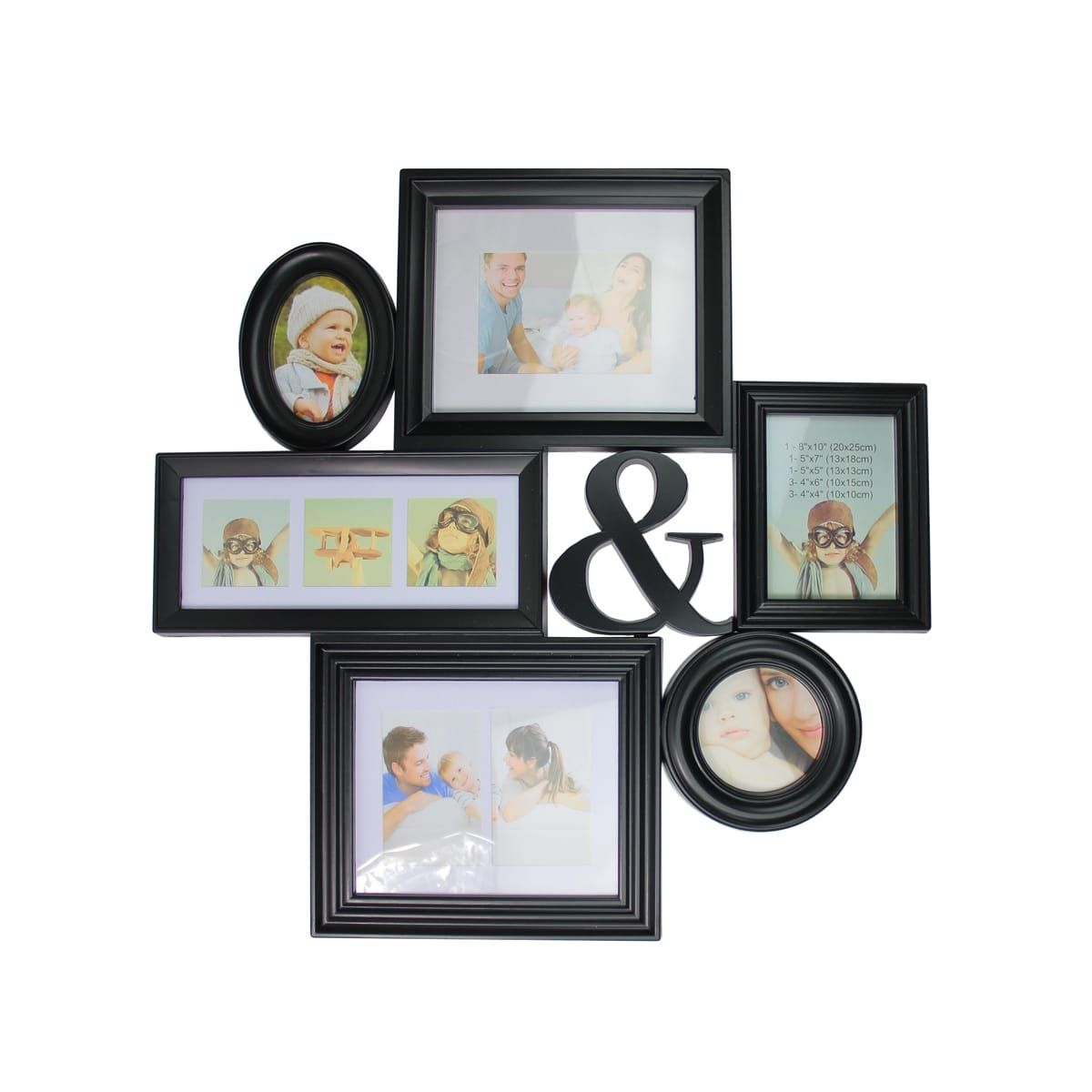 27.75 Black Multi-Sized Photo Picture Frame Collage Wall Decoration ...