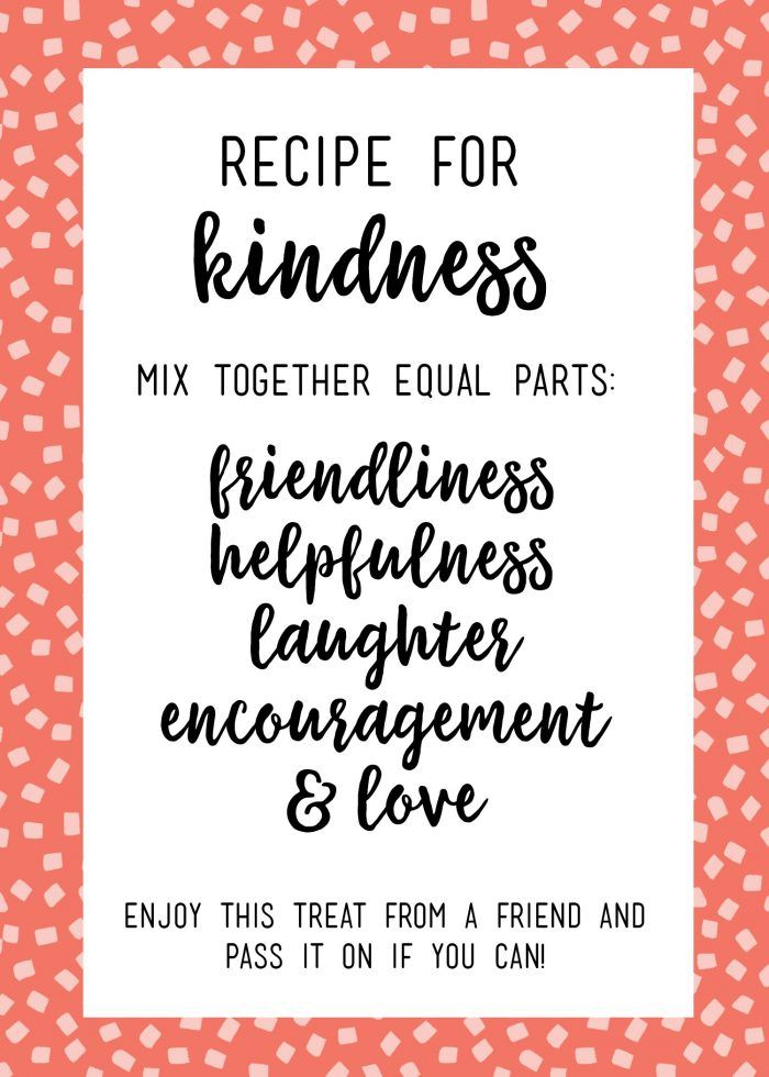 recipe for kindness random acts of kindness treat bags recipe for kindness random acts of kindness kindness random acts of kindness treat bags