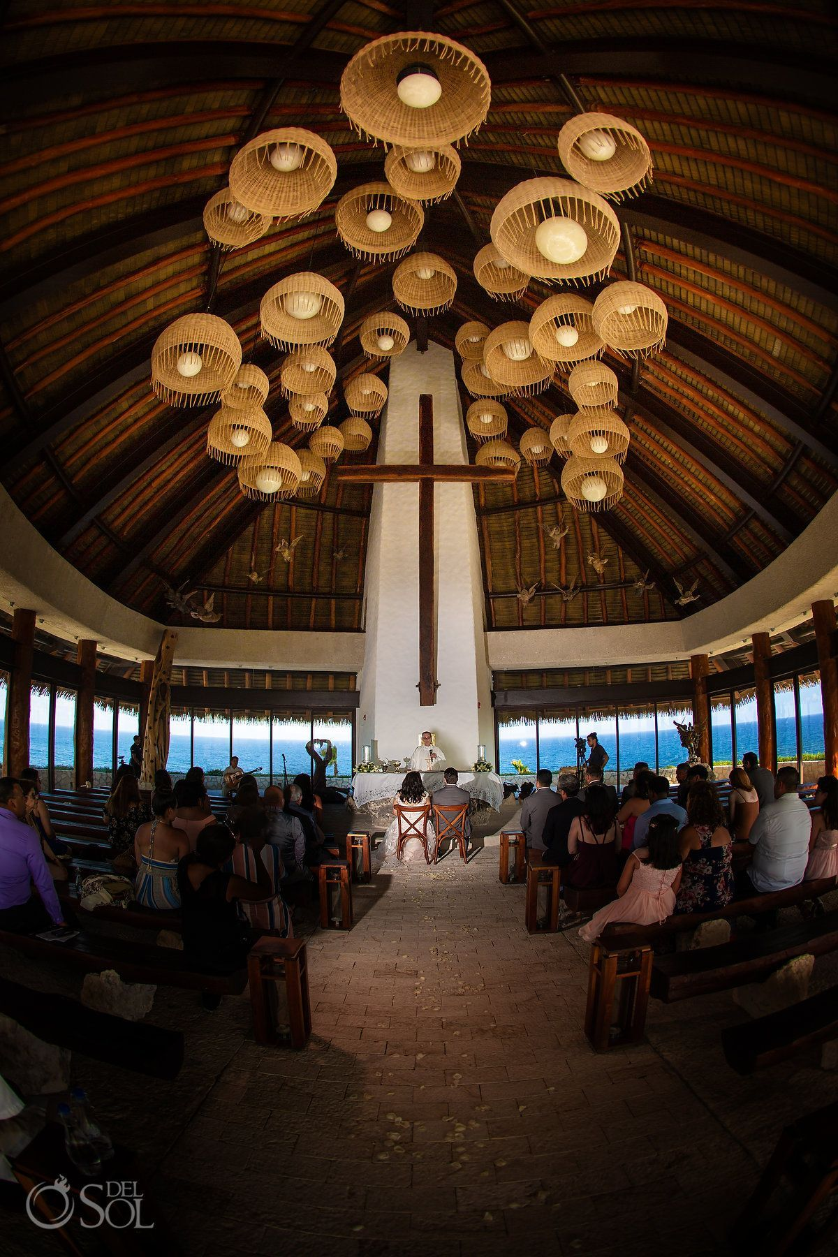 Hotel Xcaret Mexico Chapel Wedding J M Del Sol Photography