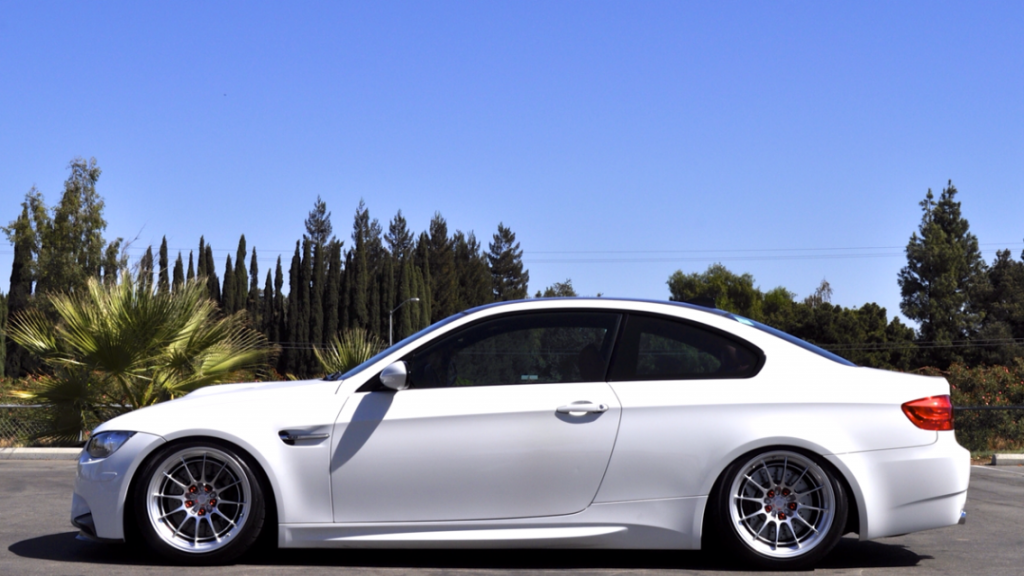 Bmw E92 M3 Lowered And With Aftermarket Wheels Whip Edm Bmw
