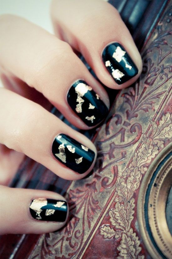 15 Best Black Acrylic Nail Art Designs Ideas 2013 For Girls 14 15