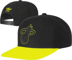 newest dd371 d6a41 Nba · Baseball Hats · Baseball Caps · NEW ARRIVAL  Miami Heat adidas  Originals Hyper Color Neon Snapback Hat - Bright Yellow http