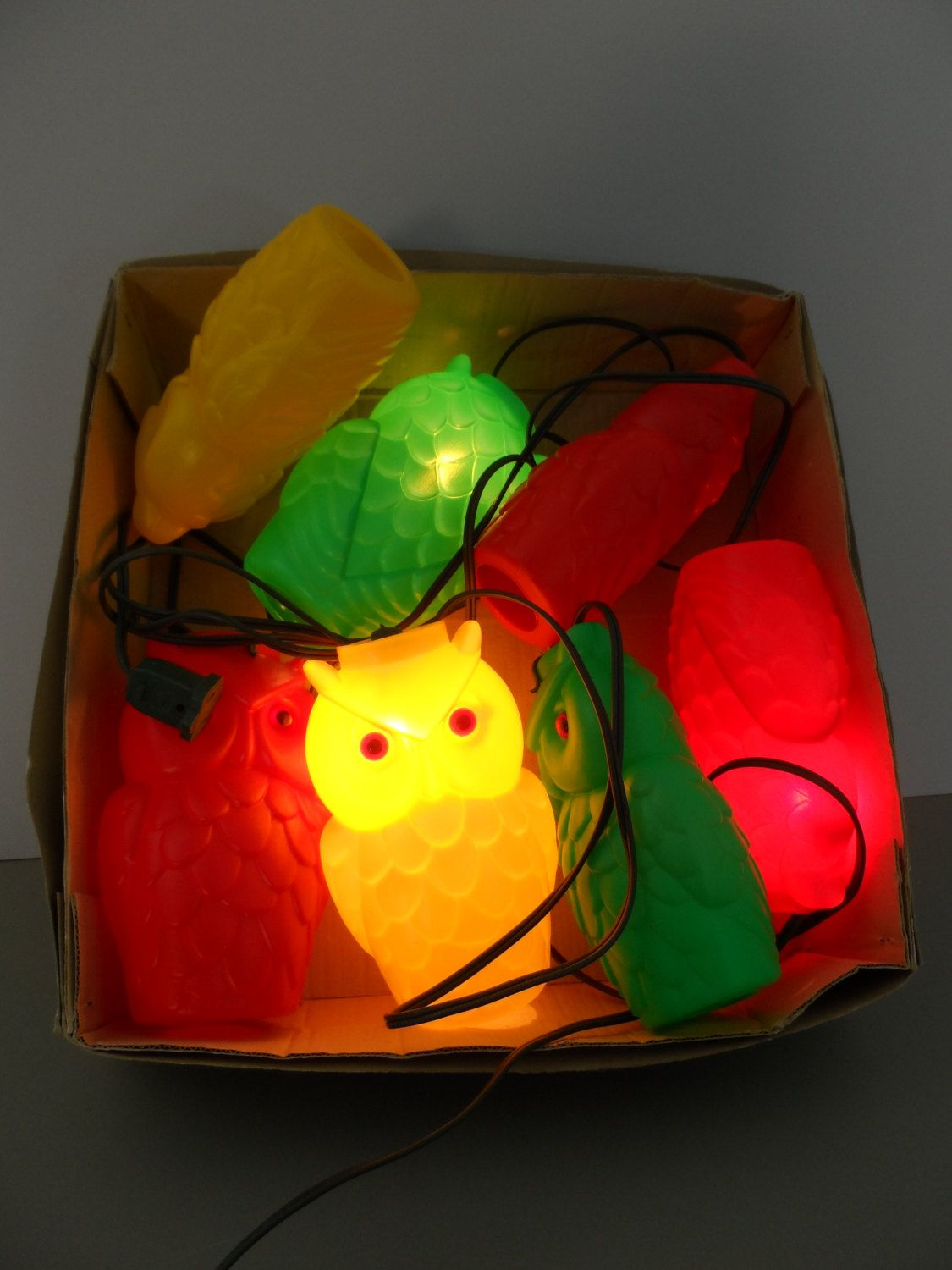 Vintage Owl String Lights, Patio Lights, Blow Mold Hooters... Sorry For