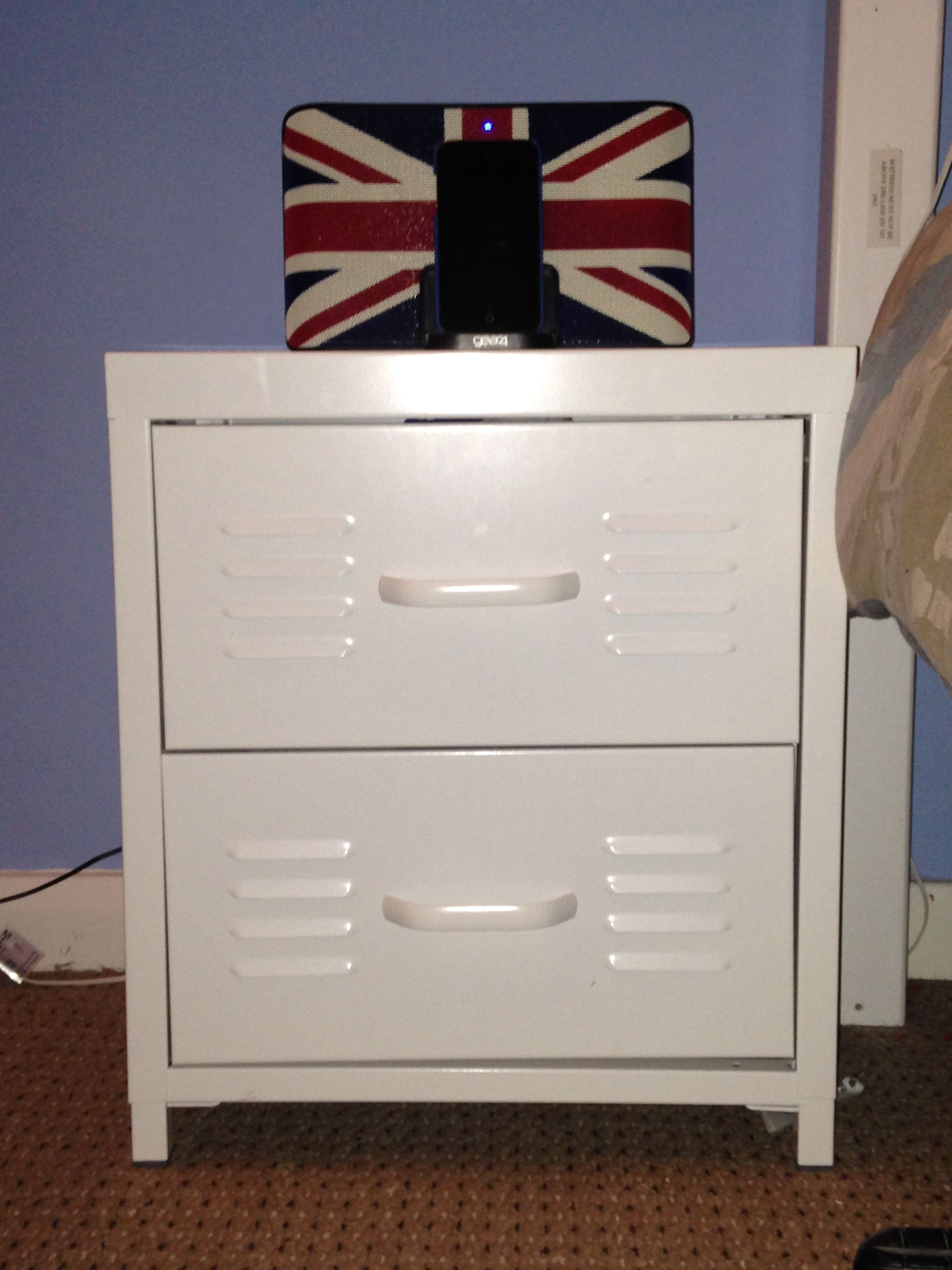 white 'locker' bedside cabinet from Next