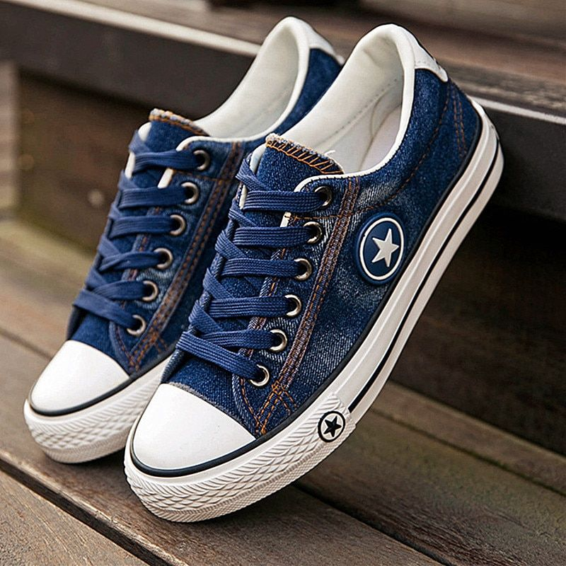 Women Sneakers Denim | Casual Shoes Female | Summer Canvas