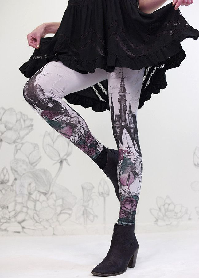 Dreams under Siege Legging by Carousel Ink