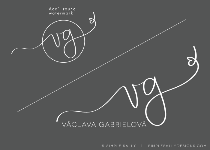 Handwritten Initials For Photographers Vg Creative Lettering Lettering Tattoo Lettering