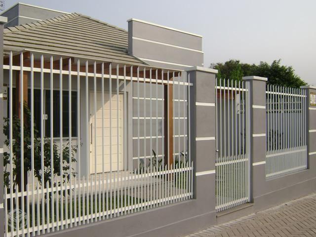 Tipos de muros com grades gradinhas fachadas modernas e - Tipos de muros ...
