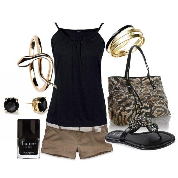 black/khaki/gold