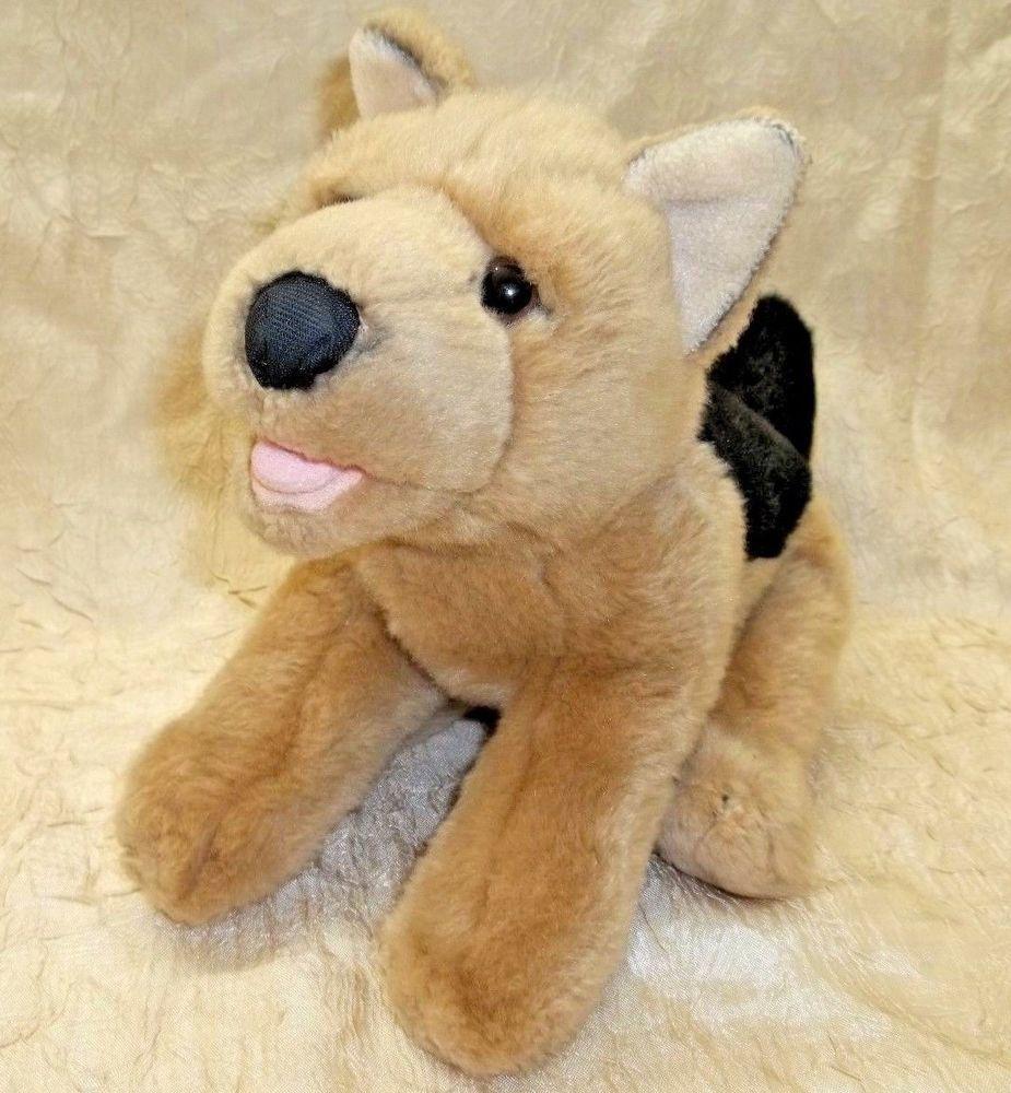 Animal Alley German Shepherd Dog Plush Stuffed Toy Black Tan Puppy