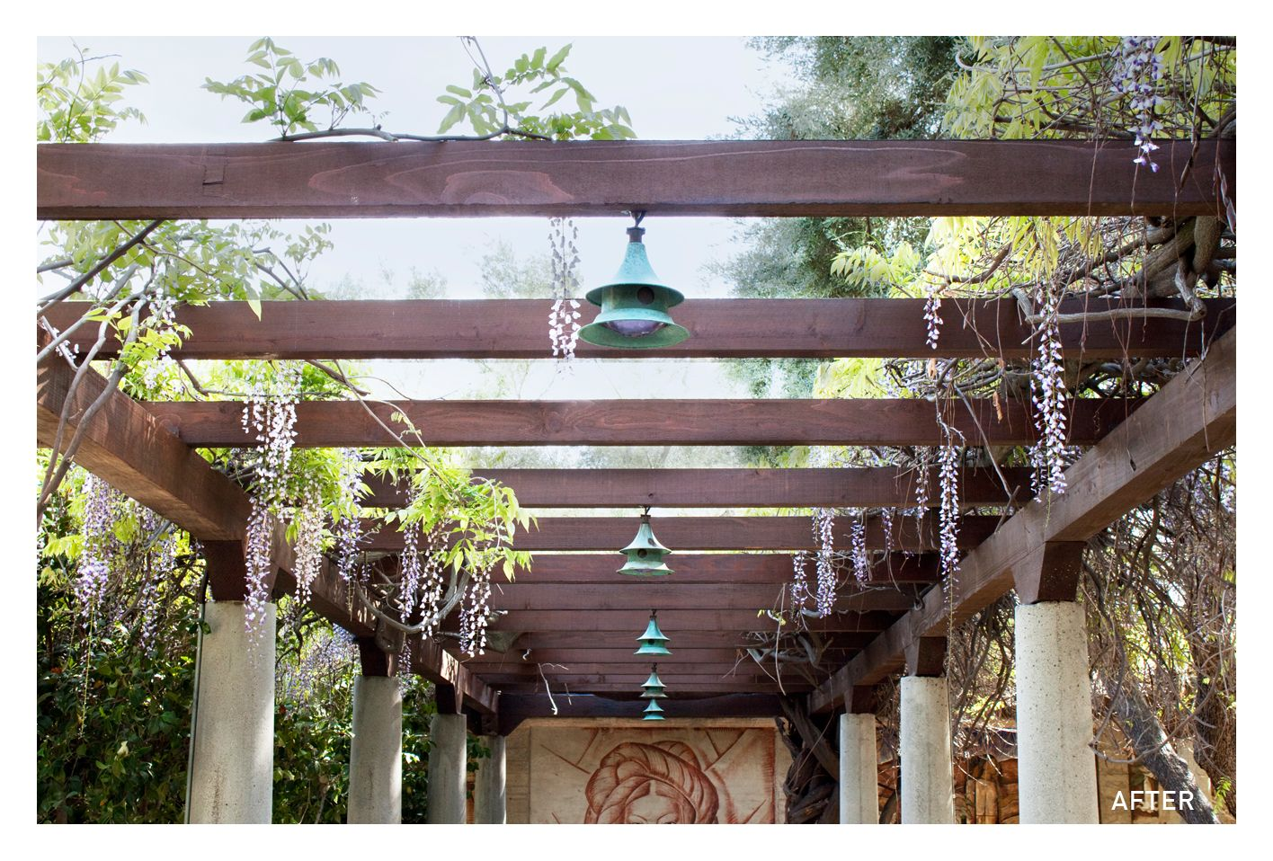 Decoration Ideas, : Contemporary Garden Decoration Design Ideas With Brown  Wood English Garden Trellis And
