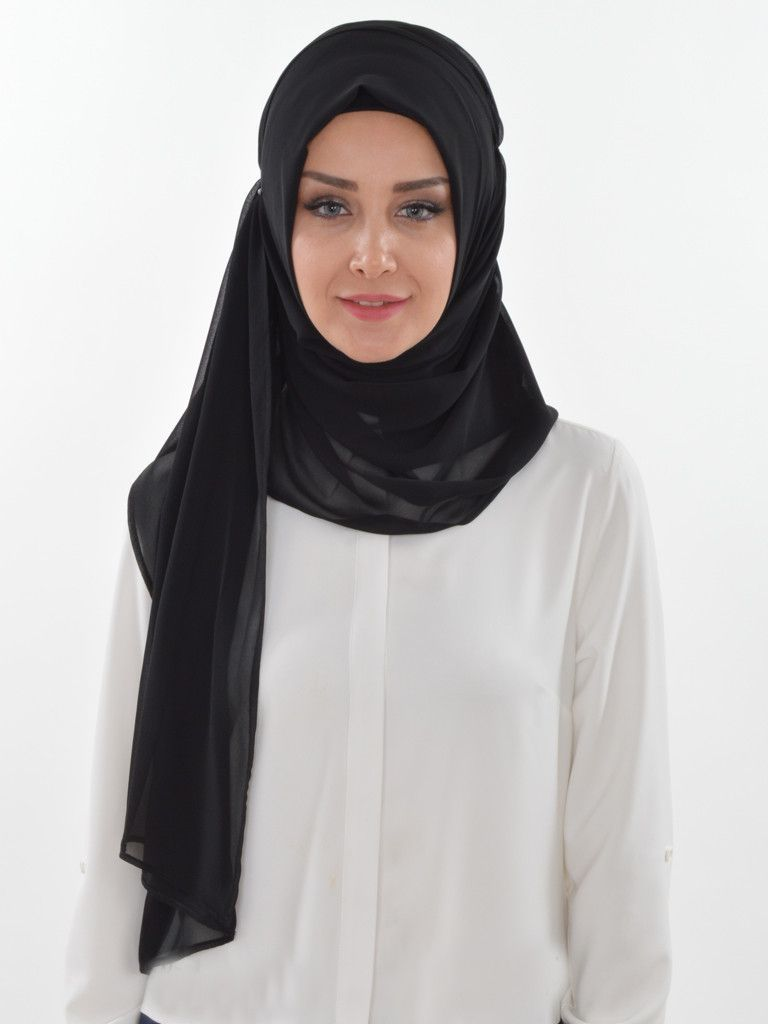 Solid color shired practical chiffon shawlhijab products