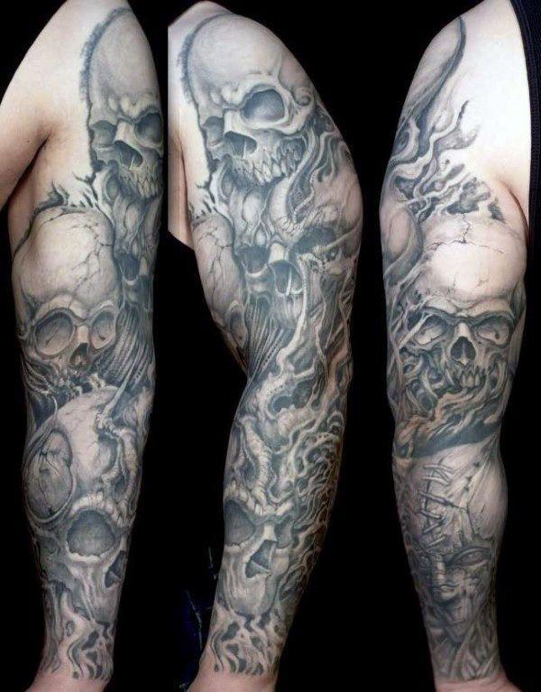 Photo of 50 Schädel-Hülsen-Tätowierungen für Männer – männliche Design-Ideen – Mann Stil | Tattoo