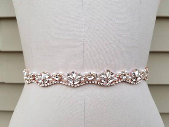 Wedding Belt, Bridal Belt, Sash Belt, Crystal Rhinestone & Off White ...