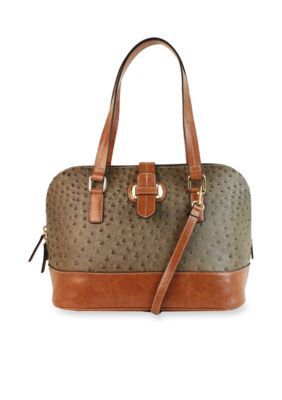 New Directions  Lara Dome Satchel - Mink Ostri - One Size