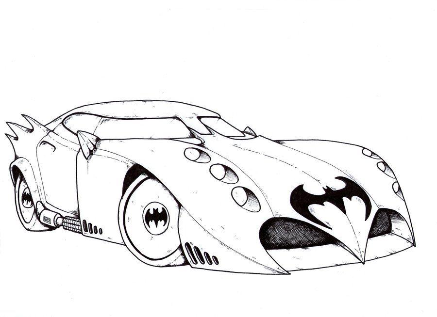 Batmobile Coloring Pages Original Batmobile Drawing Batmobile