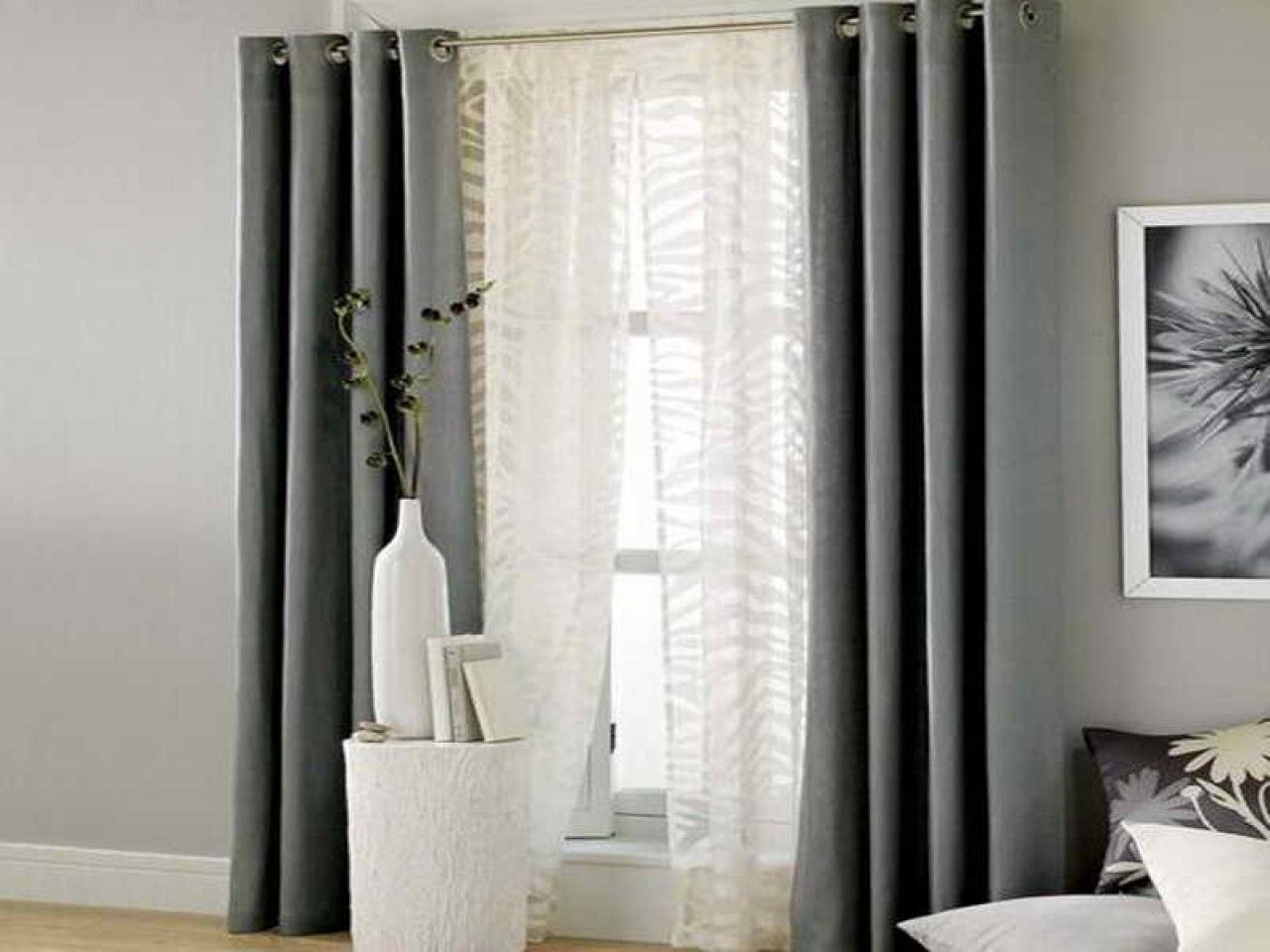 Dark Color Curtains With Tan Walls In 2020 Curtains Living
