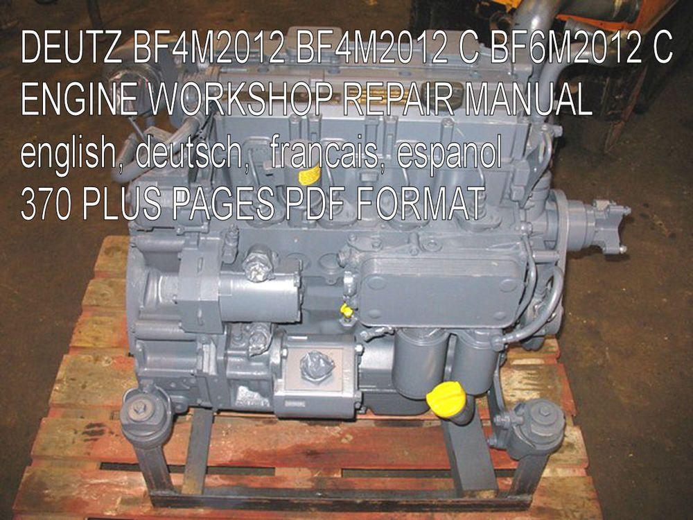 details about deutz tcd workshop manual service manual owners details about deutz 2012 engine service manual deutz 2012 workshop manual 2012 l04 2v pdf cd