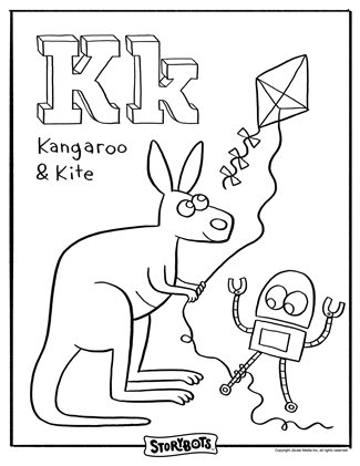 I Love These StoryBot Free Coloring Pages K Is The KEY To Words Like KANGAROO And KITE Will You KINDLY Color Them