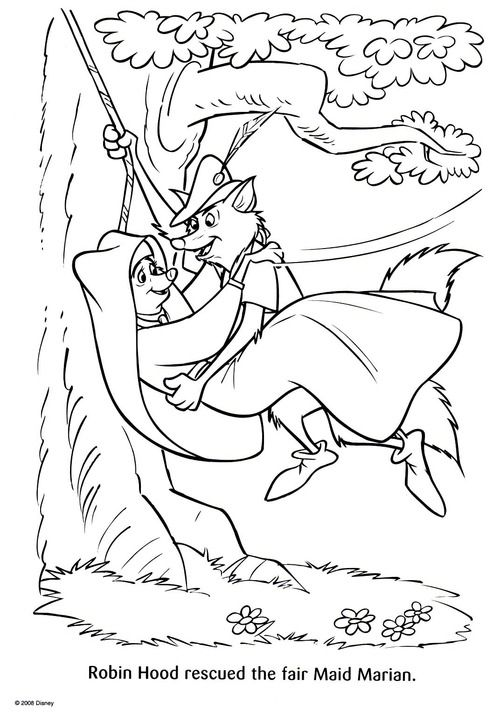 Robin Hood Coloring Page | coloring pages | Pinterest | Colores ...