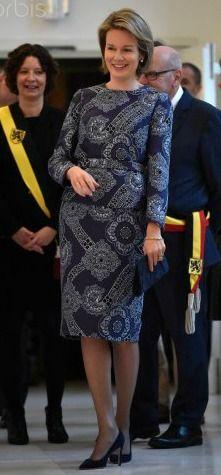 """Queen Mathilde of Belgium visited the exhibition """"Design Derby Holland-Belgium"""" at the Design Museum in Gent, Belgium December 16, 2015."""