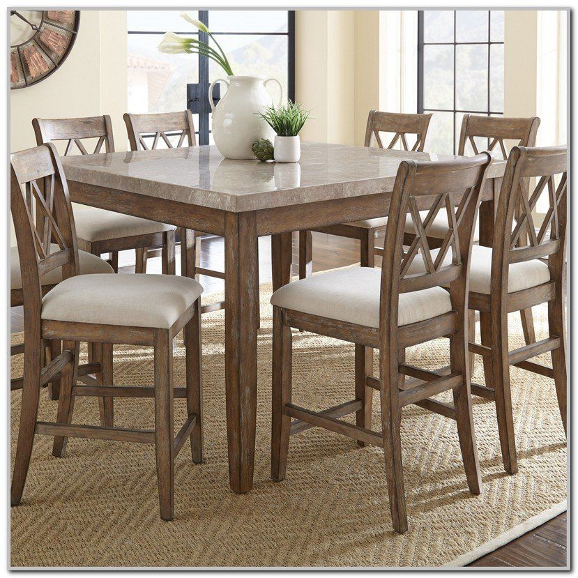 Harrison Counter Height Dining Set 9 Pc Counter Height Dining Room Tables Tall Dining Room Table Dining Table