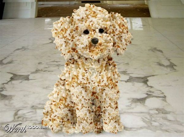 A Puppy Made Out Of Popcorn Gives New Meaning For So Cute I Could