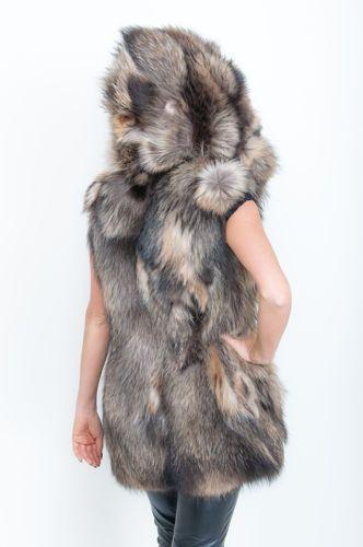 Ocieplacze Na Buty Z Futra Futrzana Kamizelka Z Kapturem Z Naturalnego Futra Jenota Kod Fur Fur Coat Fashion