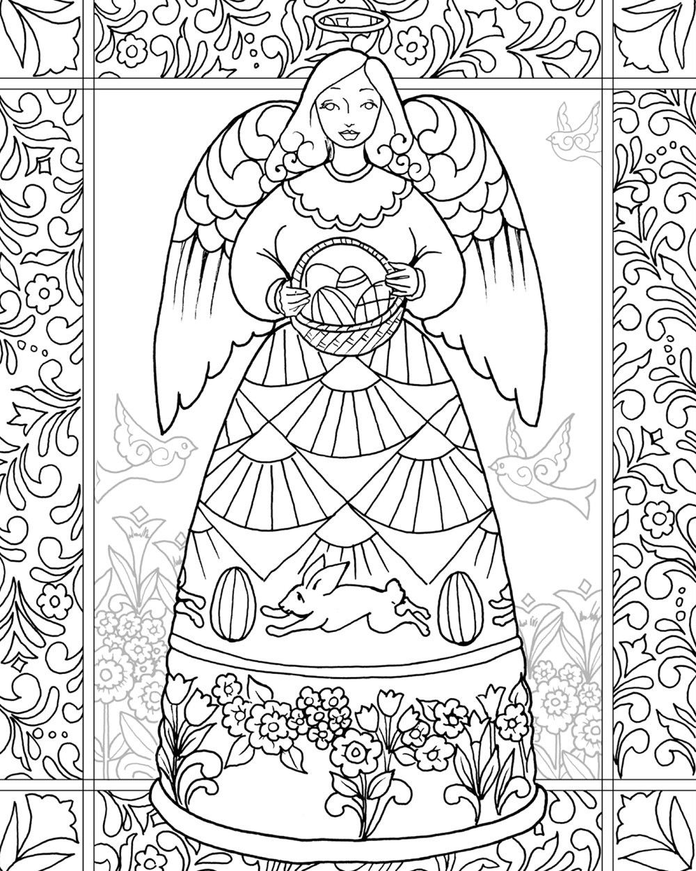 Jim Shore 'Easter Blessings Angel' from the Angel Coloring ...
