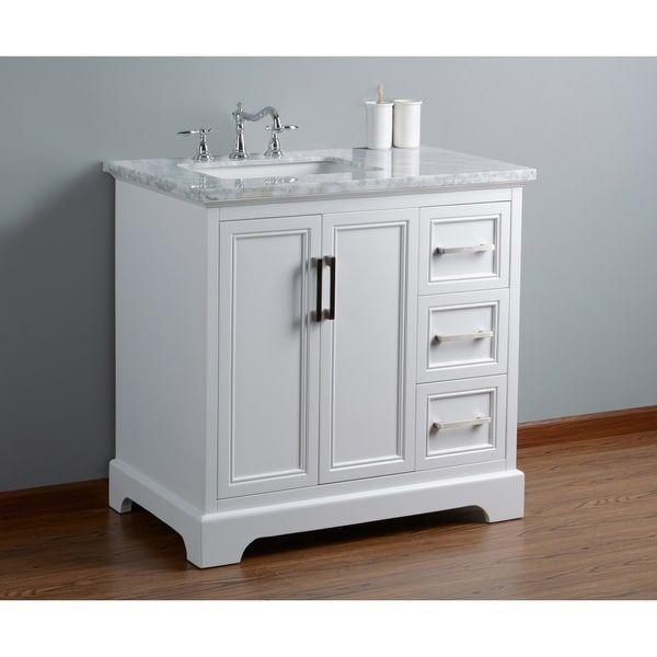 White Single Sink Bathroom Vanity Free Shipping Today 23007427 Mom S Bath Reno Pinterest Bathro