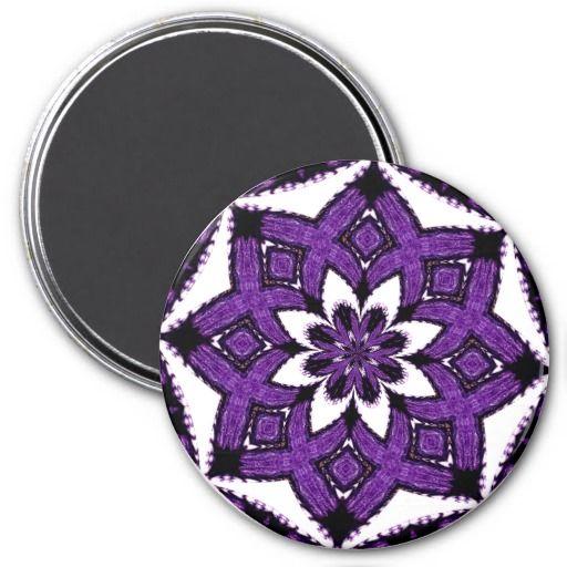Purple Kaleidoscope-21 Refrigerator Magnets Refrigerator Magnets #zazzle #magnet #kaleidoscope #purple